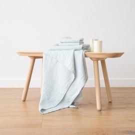 Eisblau Leinen Badetuch Wafer und Handtücher  Gewaschen