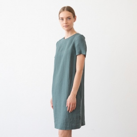 Folkstone Grau Leinen Kleid Isabella