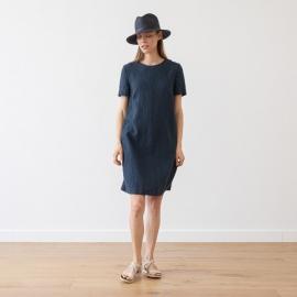 Indigo Leinen Kleid Isabella