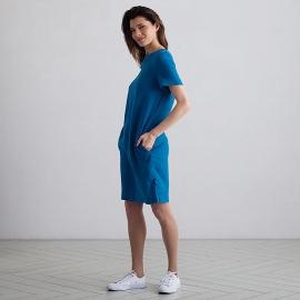 Sea Blue Leinen Kleid Isabella