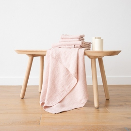 Rosa Leinen Badetuch Wafer und Handtücher Washed