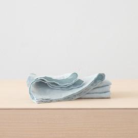 Eisblau Leinen Serviette Stone Washed