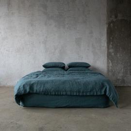 Balsam Grün Leinen Bettbezüge Stone Washed