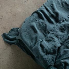 Balsam Grün Leinen Bettlaken Stone Washed