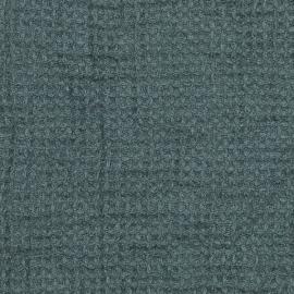 Ice Blue Linen Waffle Fabric Washed