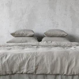 Set aus Stonewashed, Taupe Bettwäsche
