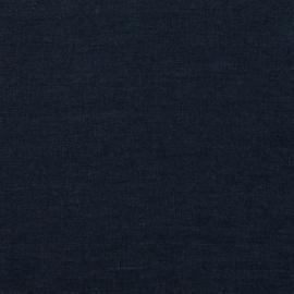 Navy Blau Leinen Stoff Stone Washed