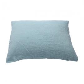 Vorgewaschener stone blau Leinen-Kopfkissenbezug