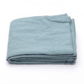 Vorgewaschenes stone blau Leinen-Bettlaken
