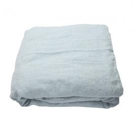 Vorgewaschenes rhomb stone blau Leinen-duvet