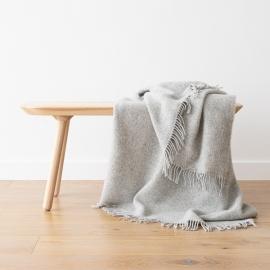 Silbern Wolldecke aus reiner Wolle Paula
