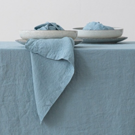 Stone Blue Leinen Serviette Stone Washed
