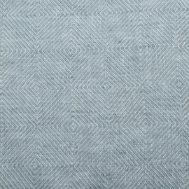 Stone Blau Leinen Stoff Stone Washed Rhomb