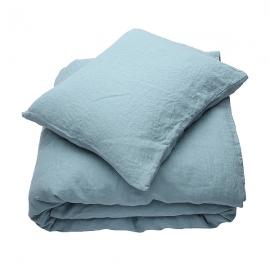 Set aus Stonewashed, Stone Blue Bettwäsche