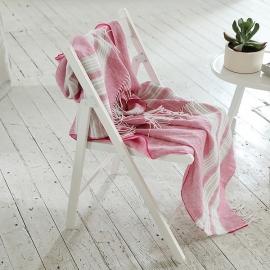 Bright Pink Leinen Plaid Felix