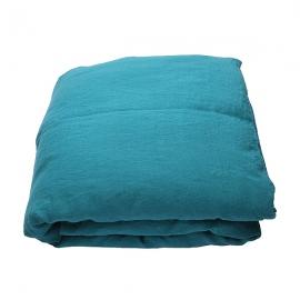 Vorgewaschenes Marine Blue Leinen-Bettlaken