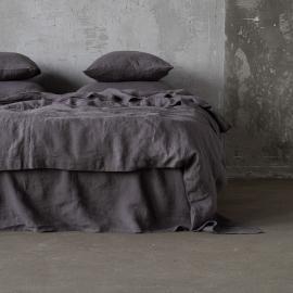 Vorgewaschenes Steel Grey Leinen-Duvet