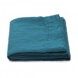 Vorgewaschenes Marine Blau Leinen-Bettlaken