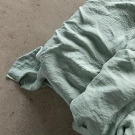 Vorgewaschenes Spa Grün Leinen-Bettlaken