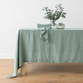 Spa Grün Tischdecke Leinen Stone Washed