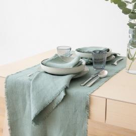 Spa Grün Tischläufer Leinen Rustic