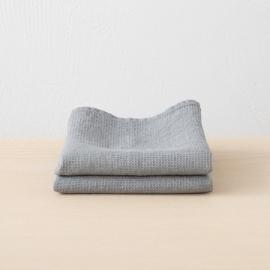 Set mit 2 Graphite Leinen Handtüchern Wafer