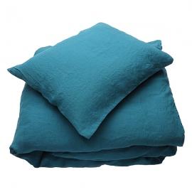 Set aus Stonewashed, Marine Blue Bettwäsche