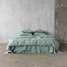 Set aus Stonewashed, Spa Green Bettwäsche