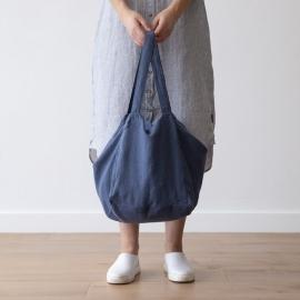 Strandtasche Vintage Indigo Leinen Lara