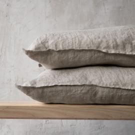 Stone Washed Leinen Kissenbezug Natural