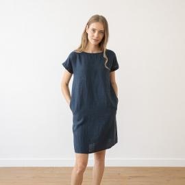 Indigo Leinen Kleid Alice