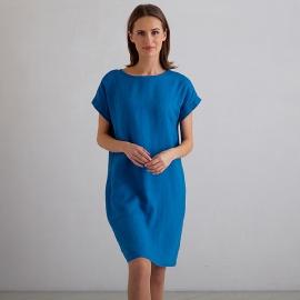 Sea Blue Leinen Kleid Alice