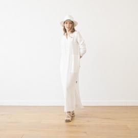 Weiß Leinen Kleid Dona
