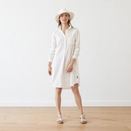 Weiß Leinen Hemdkleid Camilla