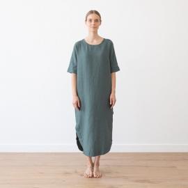 Balsam Green Leinen Kleid Nora