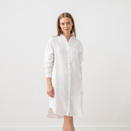 Weißes Leinenhemd Kleid Paula