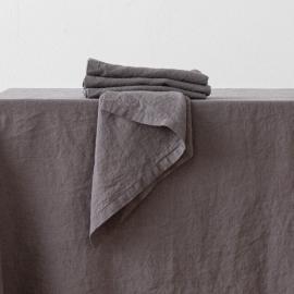 Leinen Serviette Stone Washed Steel Grey