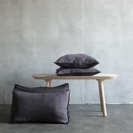 Grau Leinen Kissenbezug Stone Washed
