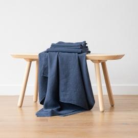 Indigo Leinen Badetuch Wafer und Handtücher Washed