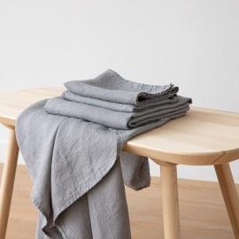 Graphite Leinen Badetuch Wafer und Handtücher Washed