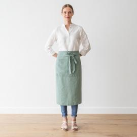 Vorgewaschene Leinen Chef's Schürze Spa Grün