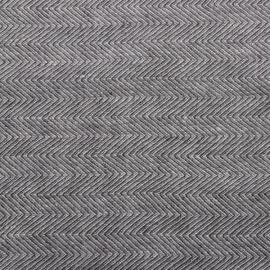 Grau Leinen Stoff Muster Stone Washed Herringbone