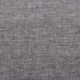 Grau Leinen Stoff Stone Washed Herringbone
