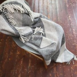 Grau Wolle Decke Valentino