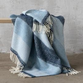 Blau Wolle Decke Valentino