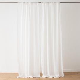 Leinen Garza Vorhang mit Tunnelzug Off White