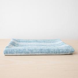 Leinen Strandtücher Multistripe Marine Blue