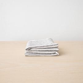 Set 2 Graphite Leinen Handtücher Brittany