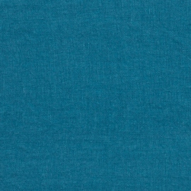 Sea Blue Leinen Stoff Muster Stone Washed