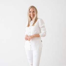 Weißes Leinenhemd Ernesto